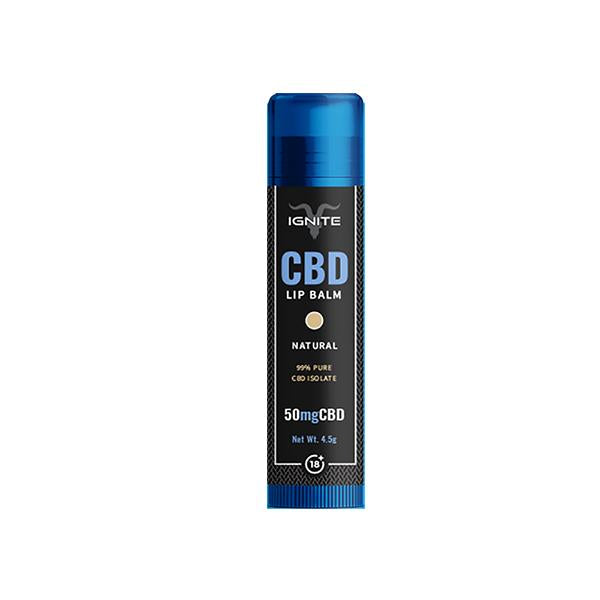 Ignite CBD Lip Balm Natural 50mg