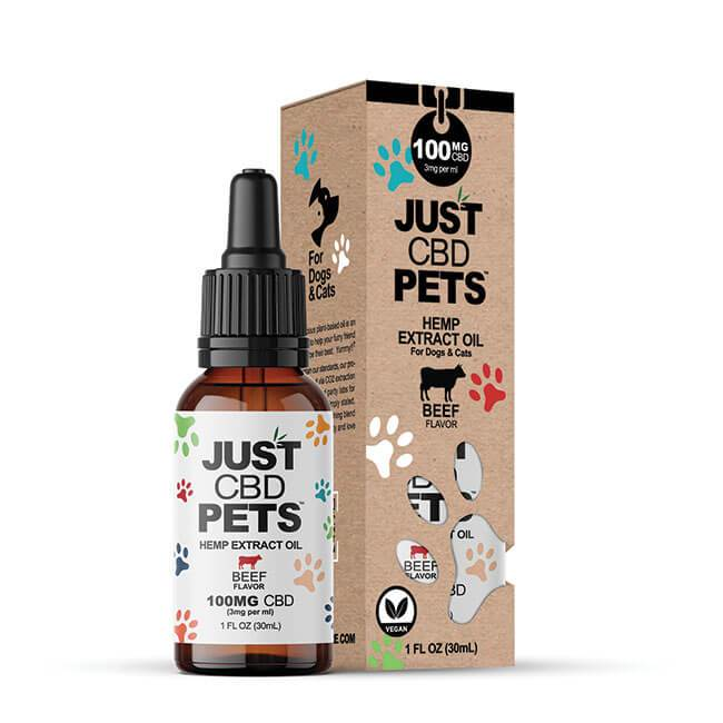 Just CBD Pets Hemp Extract Oil For Dogs and Cats 30ml