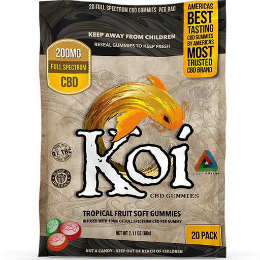 Koi CBD Gummies Tropical Fruit Soft Gummies 200mg 20pcs