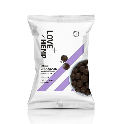 LOVE HEMP CBD Dark Chocolate Balls 64% Cocoa 50mg 50g