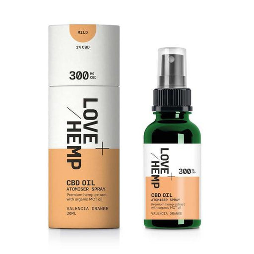 LOVE HEMP CBD Oil Atomiser Spray Valencia Orange 30ml