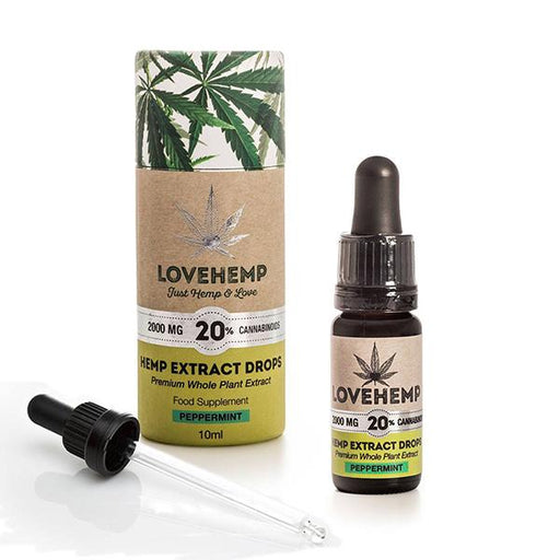 Love Hemp CBD Hemp Oil Peppermint 2000mg 20% 10ml