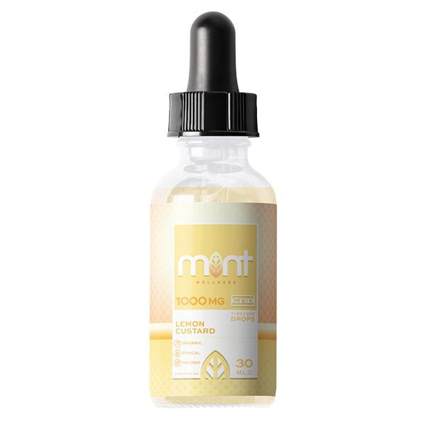 Mint Wellness CBD Tincture Drops Lemon Custard 30ml