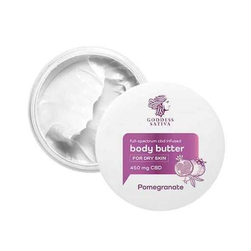 Goddess Sativa Body Butter for Dry Skin Pomegranate 450mg 100ml
