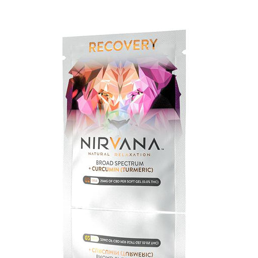Nirvana Natural Relaxation Broad Spectrum Gels Recovery 25mg 2pcs