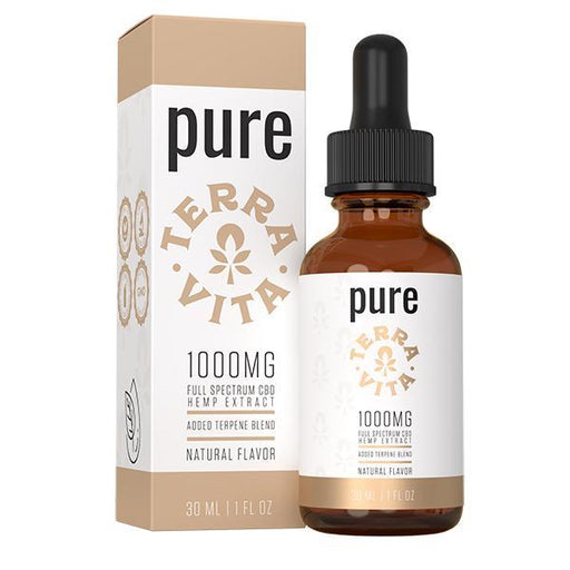 TerraVita Pure Full Spectrum CBD Hemp Extract Natural Flavour 30ml