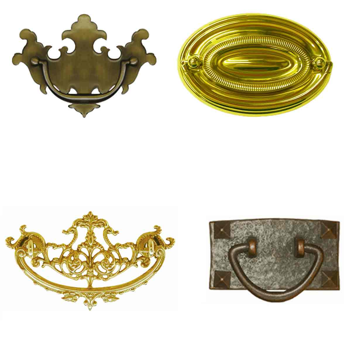 Antique Drawer Pulls, many patterns, sizes and finishes
