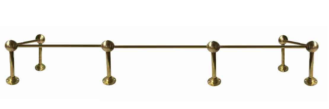 Brass Railing for furniture, shelves, cabinets