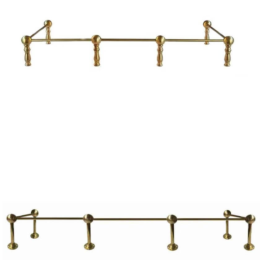Brass Railing for Cabinets, Shelving and Furniture