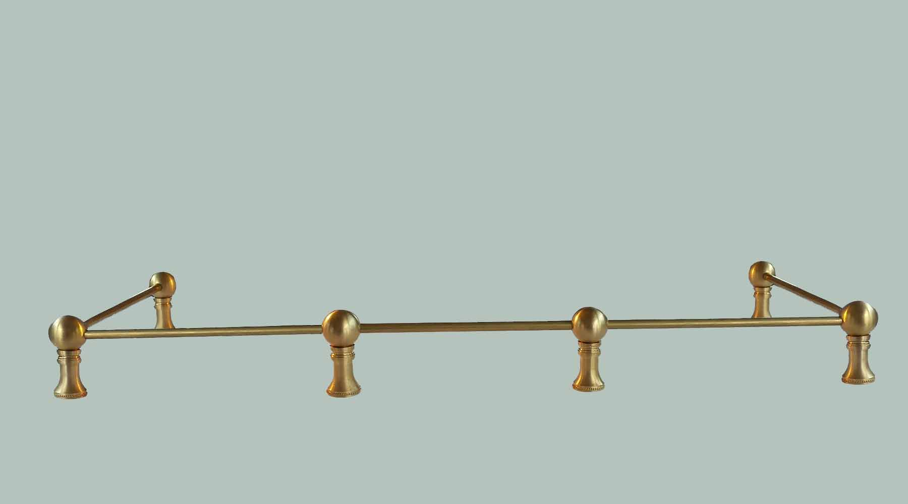 Brass Gallery Rail is a great option for kitchens, keeping items in place