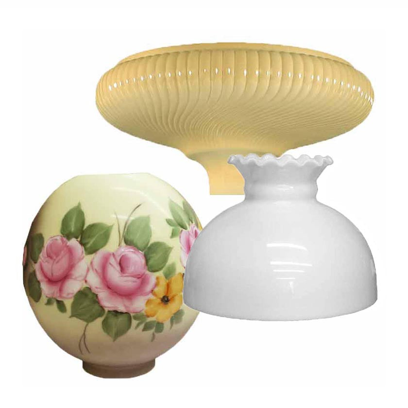 Glass Lamp Shades for antique - vintage lamps