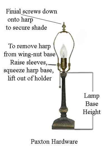 Harp type table lamp less lamp shade