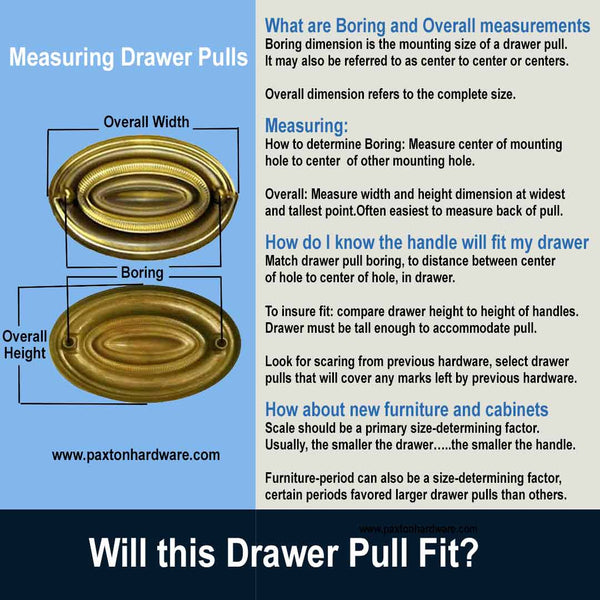How to measure drawer pulls