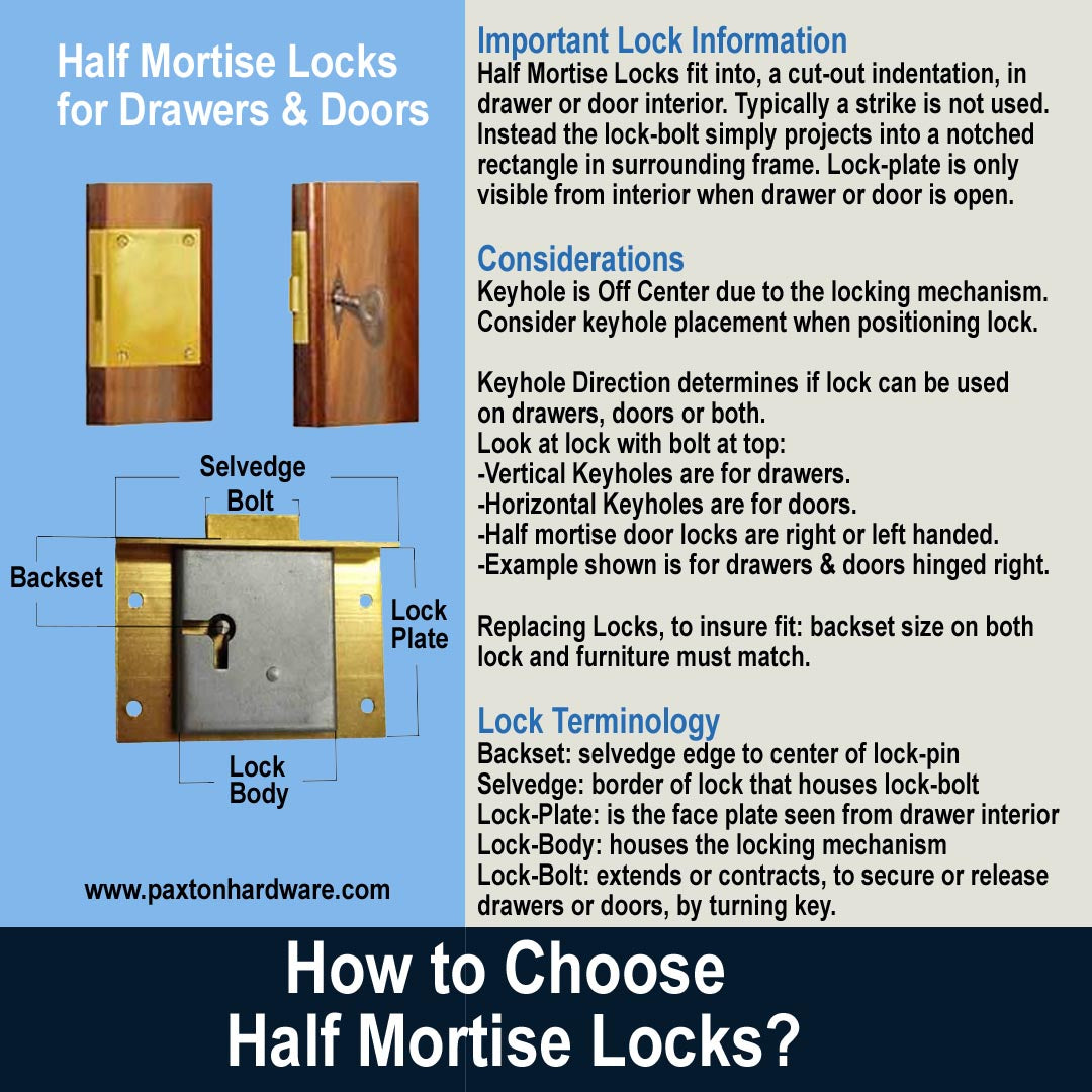 Half Mortise Lock Measurement Information