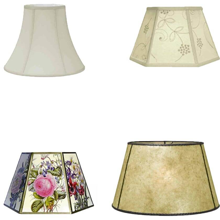 Lamp Shades: Harp, Chimney, Clip and Uno types