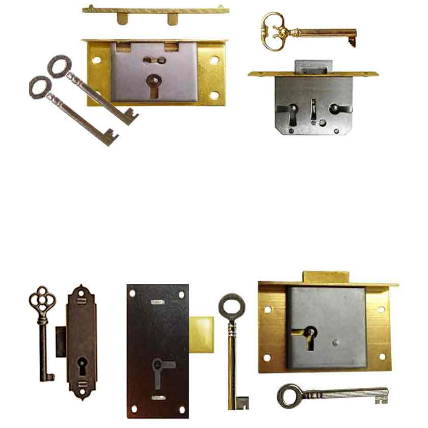 Antique locks for drawers, doors and chests