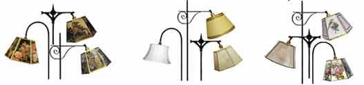 Bridge lamp shades to screw onto uno threaded lamp socket