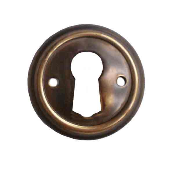 Antique Keyhole Cover, Round - paxton hardware ltd