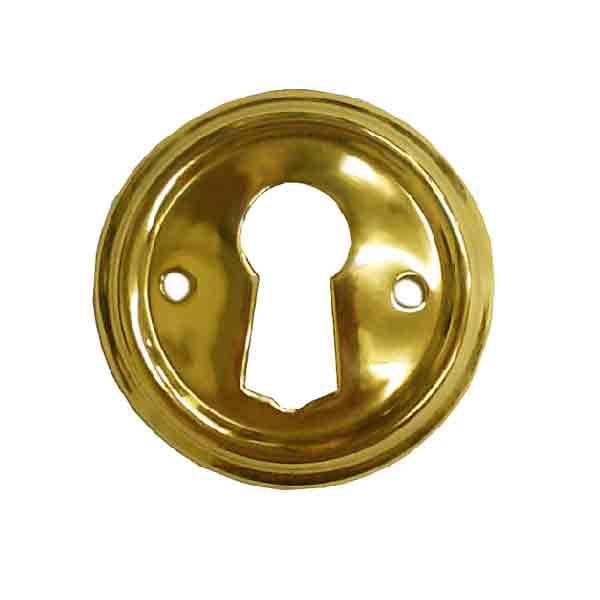 Furniture Keyhole Escutcheon, Round - paxton hardware ltd
