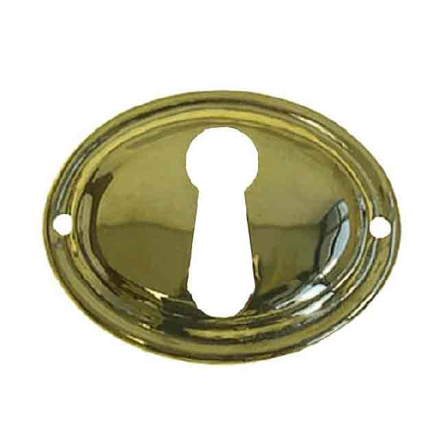 Oval Brass Keyhole Cover - paxton hardware ltd