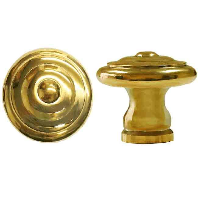 Transitional Brass Cabinet Knobs, large - paxton hardware ltd