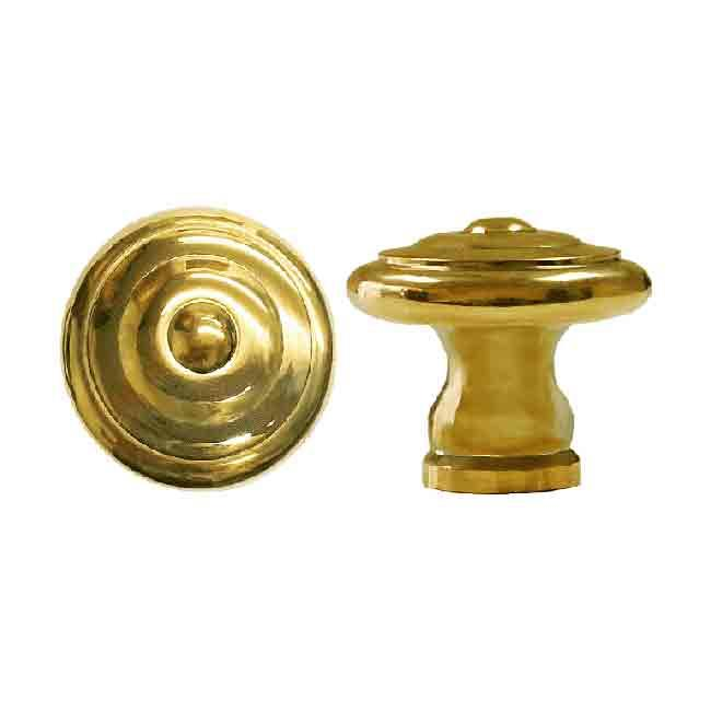 "Transitional Cabinet Knobs, Solid Brass, 1"" diameter"