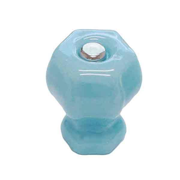 Blue Milk Glass Knobs, standard cabinet size