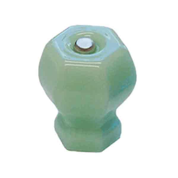 Green Milk Glass Knobs, Large Cabinet Size