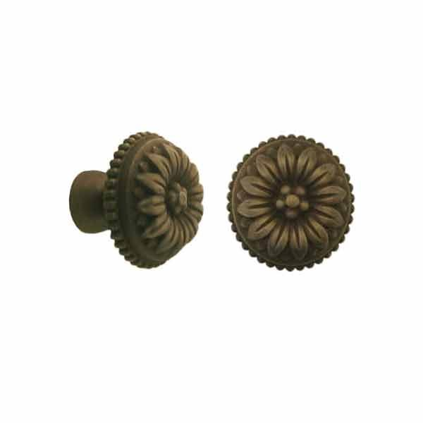 Antique Cabinet Knobs, standard-size, Baroque Inspired - paxton hardware ltd