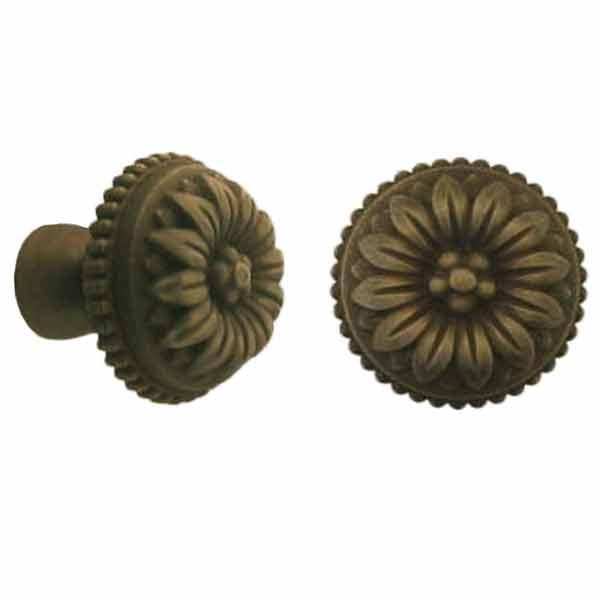Antique Cabinet Knobs, generous-size, Baroque Influence - paxton hardware ltd
