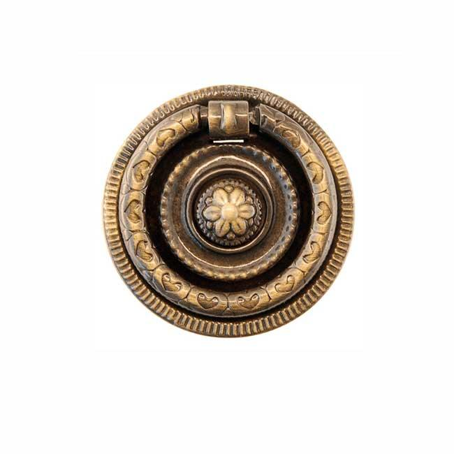 Antique Brass Ring Pulls for drawers