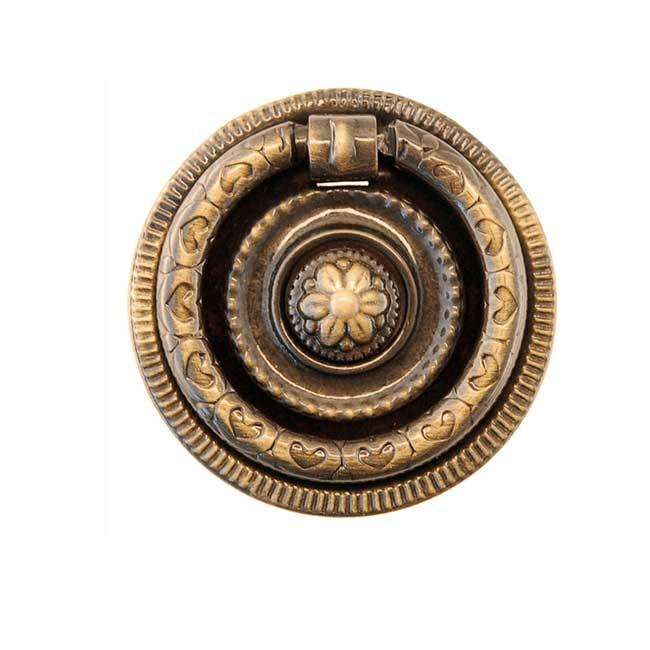 "Federal Style Antique Ring Pulls, 2"" diameter"