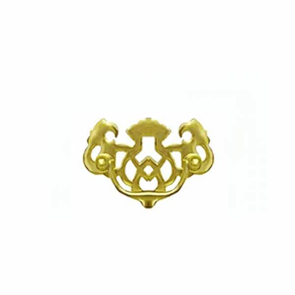 "Pierced Brass Chippendale Drawer Pulls, small 2"" Boring"