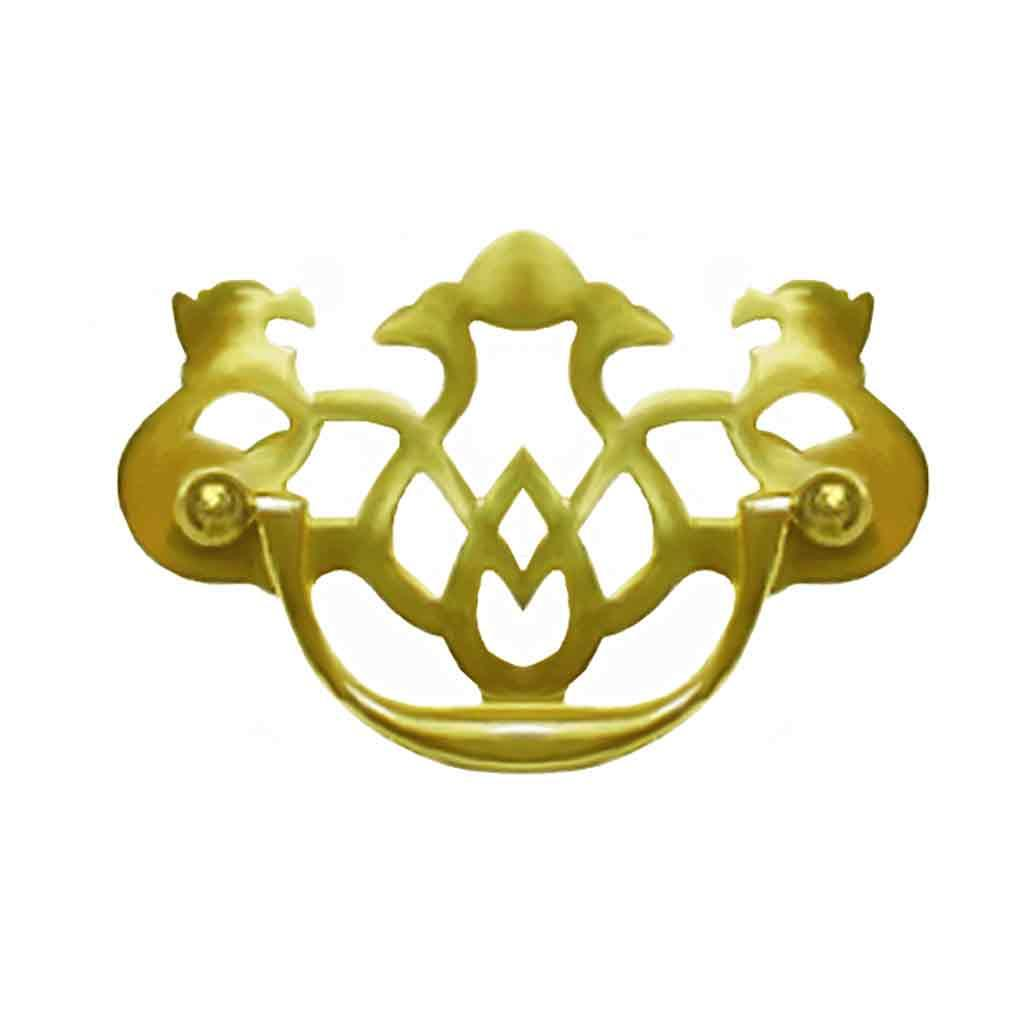 "Pierced Brass Chippendale Drawer Pulls, standard 3"" boring"