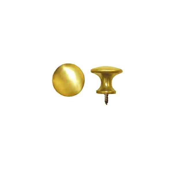 Small Polished Brass Knobs, half inch diameter
