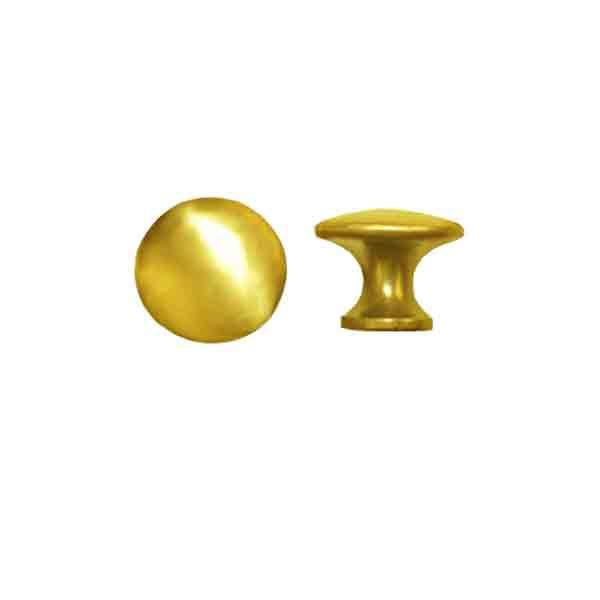 "Brass Bookcase Knobs, polished finish, 5/8"" size"