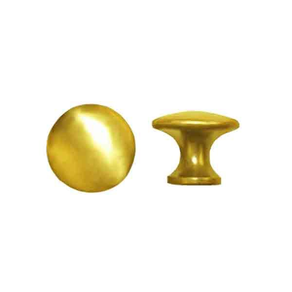 Small Brass Knobs, diameter 3/4 inch - paxton hardware ltd