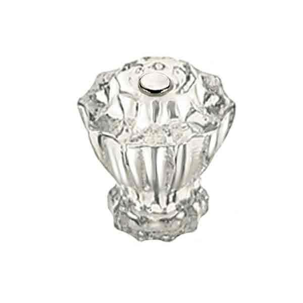 Fluted Clear Glass Knobs, standard-size - paxton hardware ltd
