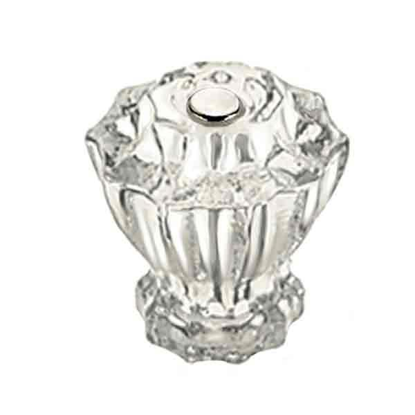 Fluted Clear Glass Knobs, large - paxton hardware ltd