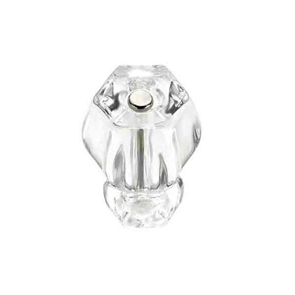 Clear Glass Knobs, Hex-Standard - paxton hardware ltd