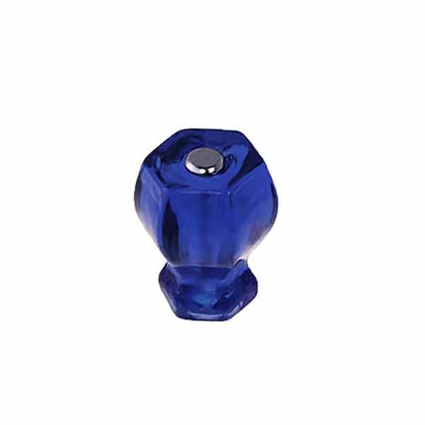 Small Cobalt Blue Glass Knobs with nickle bolts