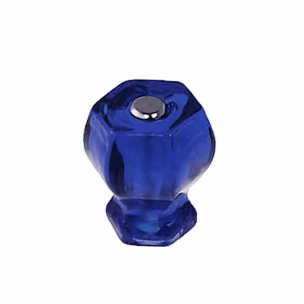 Cobalt Blue Glass Knobs are sized for cabinets
