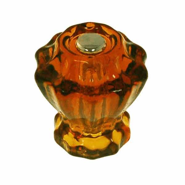 Fluted Amber Glass Knobs add vintage appeal to drawers and cabinet doors.