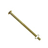 Glass Knob Bolts, Brass-plated, 2-1/2 inch