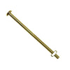 Glass Knob Bolts, Brass-plated, 3 inch