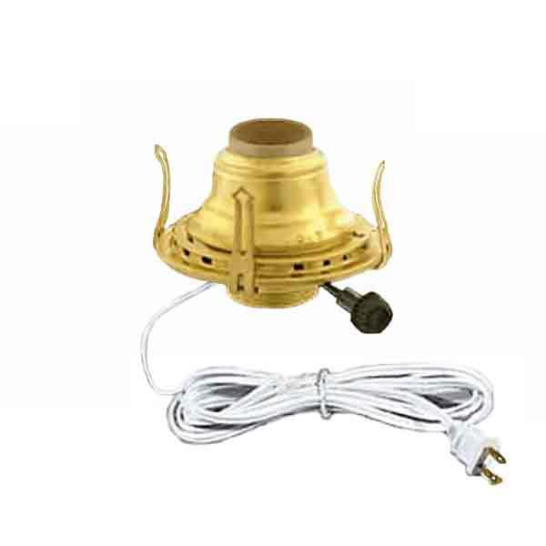 Brass Electric Lamp Burners, White no.2 - paxton hardware ltd