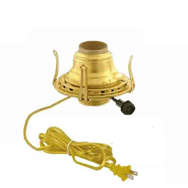 Brass Electric Lamp Burners No. 2, Gold - paxton hardware ltd