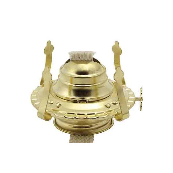 Brass-plated #1 Oil Lamp Burners - paxton hardware ltd