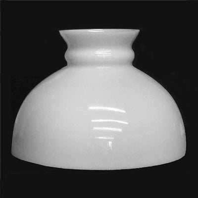 White Glass Student Lamp Shades, Flat Top - paxton hardware ltd