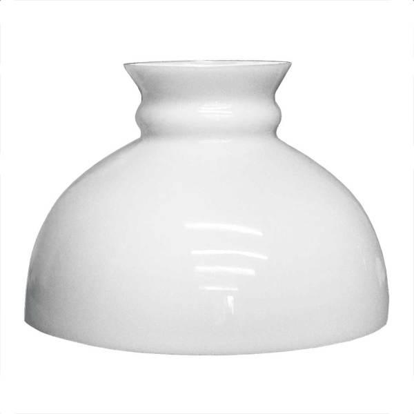 "Simple White Glass Student Lamp Shades, 10"" fitter"